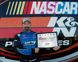 NASCAR K&N Pro Series West Driver Greg Pursley Wins the Pole
