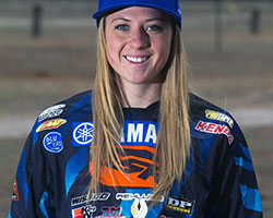 2015 N-Fab AmPro Yamaha Women's XC Pro racer Rebecca Sheets rides the number 551 YZ450F