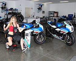 Team Yoshimura Suzuki Factory Racing was kind enough to let K&N use their race shop along with the number 95 bike of Roger Lee Hayden and the number 36 GSX-R of Martin Cardenes