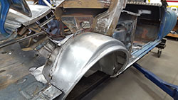 Widened wheel tubs for 1967 Camaro