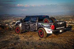 "Addictive Desert Designs, or ADD, built the bumpers and bed cage for the ""BinkBoost"" F-150."