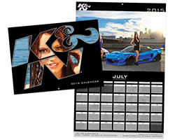 2016 K&N Calendar with pictures of hot rods, race cars and hot girls in bikinis