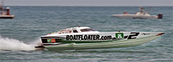 Scott Free Racing competes in a 30-foot Extreme that has a top speed of 95 mph.