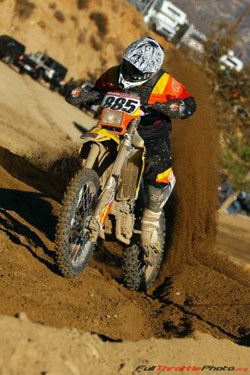 Team Malcolm Smith/Norco Tires kicking up roost. Photo courtesy of Sean Renshaw.