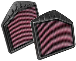 2015-2016 Hyundai Genesis 5.0L V8 equipped with two K&N replacement air filters