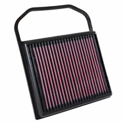 The K&N 33-5032 replacement air filter is designed to increase horsepower for 2015-2016 Mercedes Benz 3.0L V6 Turbo models by helping to minimize intake tract restriction and increase airflow