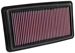 The K&N replacement air filter is washable and reusable and is designed to boost the horsepower and rate of acceleration of Honda Pilots and Ridgelines and Acura MDX engines.