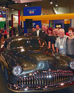 Custom 1949 Buick Super 56S Sedanette unveiled in NAPA/Martin Senour Automotive Finishes SEMA Show booth