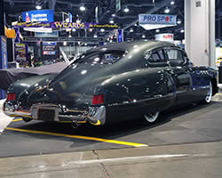 Chopped top 1949 Buick Super 56S Sedanette looks fast even when parked