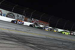 Todd Gilliland works his way up the field to win by two seconds over Ryan Partridge at Irwindale.