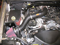 57-1548 K&N Air Intake System Installed in a 2005 Jeep Grand Cherokee4.7 liter V8