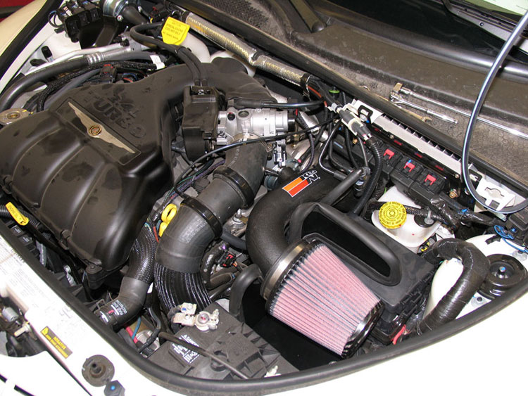 K N Performance Air Intake Replaces Restrictive Stock Configuration