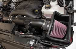Turbocharged engines, like the 2011-2014 Ford F150 EcoBoost, can benefit from reduced restriction and increased airflow when a 50-state legal K&N air intake is installed