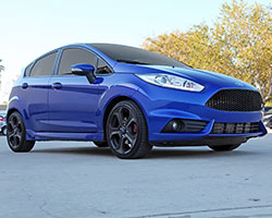 The 2014 Ford Fiesta ST EcoBoost features overboost allowing the 1.6L turbocharged engine to make a claimed 197 horsepower when using premium unleaded fuel