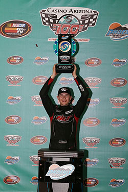 Todd Gilliland at NASCAR K&N Pro Series West in Phoenix