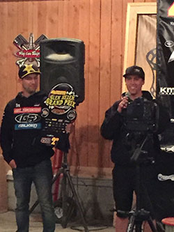 Jordan Pellegrino shares smiles, exciting race moments, and thank yous for support from K&N for his second place in 4500 Modifieds at Glen Helen.
