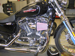 K&N Air Intake Installed on 2007-2016 Harley Davidson Sportster 883 and 1200