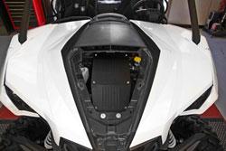 K&N 63-1135 performance intake kit installed in a Can-Am Maverick UTV