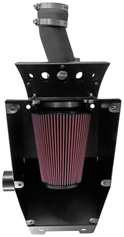 K&N 63-1135 performance intake kit open view of air filter for Can-Am Maverick UTV
