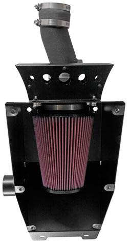 K&N 63-1135 performance intake kit open view of air filter for Can-Am Maverick UTV
