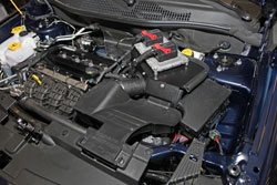 K&N Air Intake under the hood of Jeep Patriot, Compass and Dodge Caliber