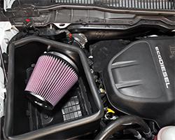 2015 Ram 1500 3.0-liter L630 DOHC turbocharged diesel V6 K&N air intake system