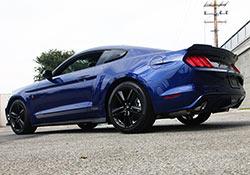 Blue 2015 Ford Mustang 3.7L