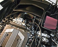 2015-2016 Chevrolet Corvette Z06 6.2L supercharged V8 K&N air intake