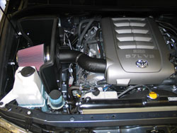 K&N Air Intake installed on a Toyota Tundra