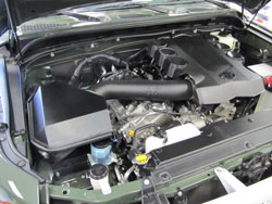 K&N Air Intake Installed on 2010 Toyota FJ Cruiser