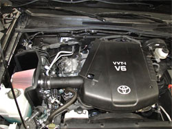 K&N Air Intake Installed on Toyota Tacoma 4.0L V6