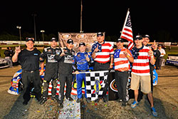 Justin Haley won the NASCAR K&N Pro Series East NAPA 150 at Columbus Motor Speedway in Ohio