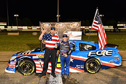 Columbus Motor Speedway, Justin Haley leads the NASCAR K&N Pro Series East