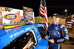 Justin Haley won the pole and the NASCAR K&N Pro Series East race at Columbus Motor Speedway