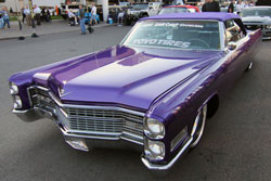 I wanted to do something classy but just a little on the edge. 1966 Cadillac DeVille at SEMA.