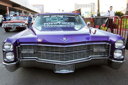 The custom 1966 Cadillac DeVille for SEMA also sports 22