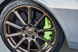 Wilwood calipers finished in Porsche 919 green