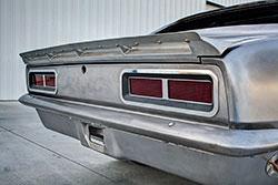 Fabricated aluminum rear spoiler