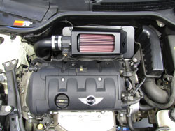 K&N Air Intake Installed on 2007 MINI Cooper 1.6L