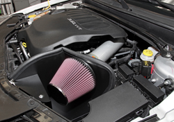 K&N Air Intake under the hood of Dodge Avenger
