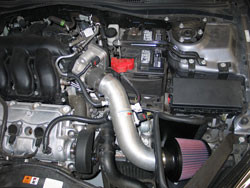 K&N air intake system installed in 2006 Ford Fusion with 3.0L engine