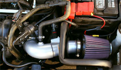 K&N Air Intake Installed on 2011 Ford Fiesta