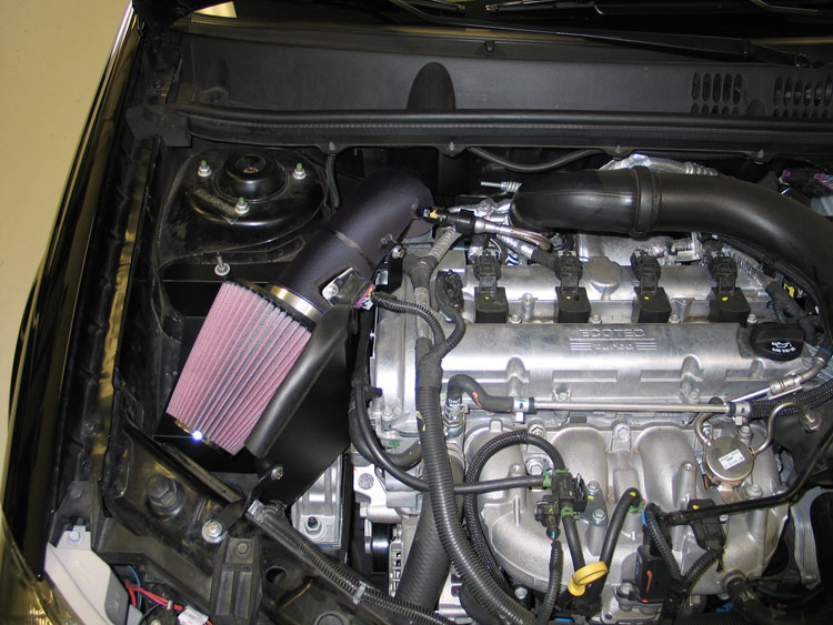 K N Air Intake Installed On 2009 Chevy Cobalt Ss 2 0l Turbo