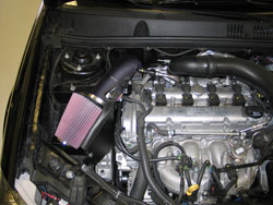 K&N Air Intake Installed on 2009 Chevy Cobalt SS 2.0L Turbo