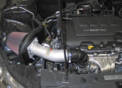 K&N Air Intake Installed on 2011 to 2016 Chevy Cruze 1.4L Turbo