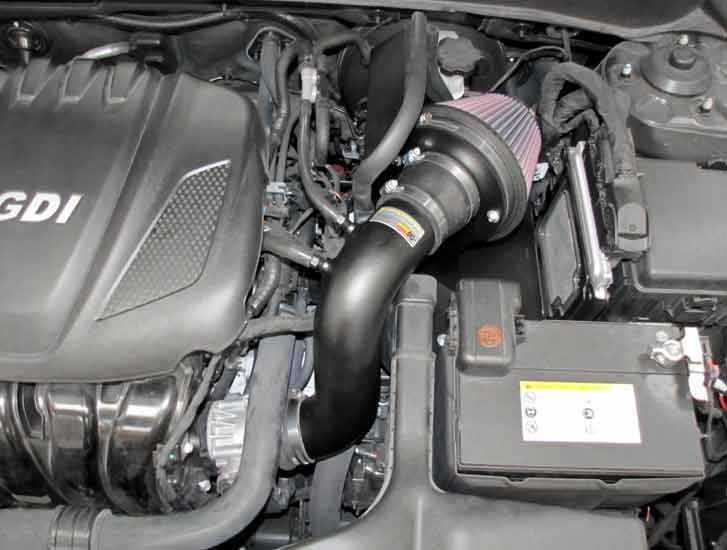 Typhoon air intake system for 2011 to 2014 sonata and 2013 to 2015 kia optima adds 7 hp