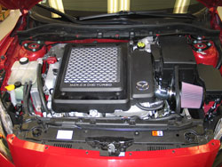 K&N Air Intake Installed on 2010 Mazda Mazdaspeed3 2.3L