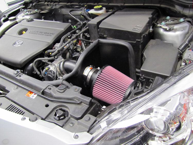 k\u0026n air intake system for 2010 to 2012 mazda 3 gains nearly 7 horsepower Mazda 3 2.5 k\u0026n air intake installed on 2010 mazda3