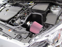 K&N Air Intake Installed on 2010 Mazda3 2.5L