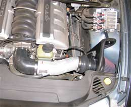 K&N Typhoon Intake System Installed in a 2005 Pontiac GTO